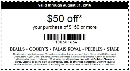 Bealls coupon codes