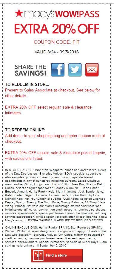 Macys coupon codes