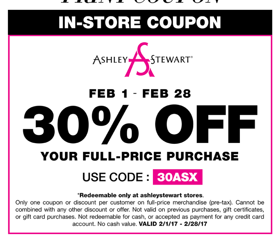 Ashley Stewart coupon codes